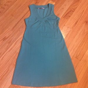 Athleta Organic Cotton Señorita Teal  Dress Sz S
